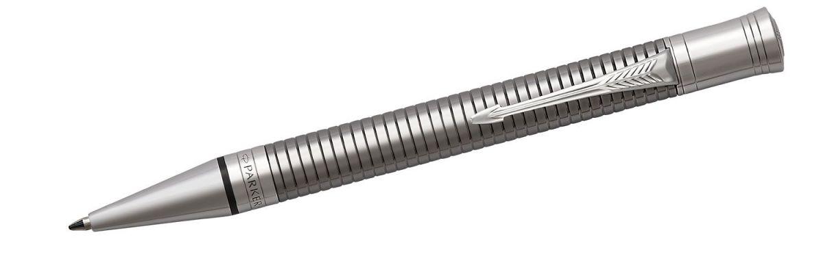 Długopis Parker Duofold Prestige Ruthenium Chiselled CT