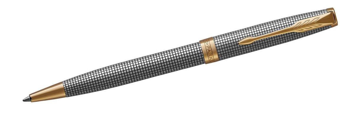 Długopis Parker Sonnet Premium Chiselled Silver GT