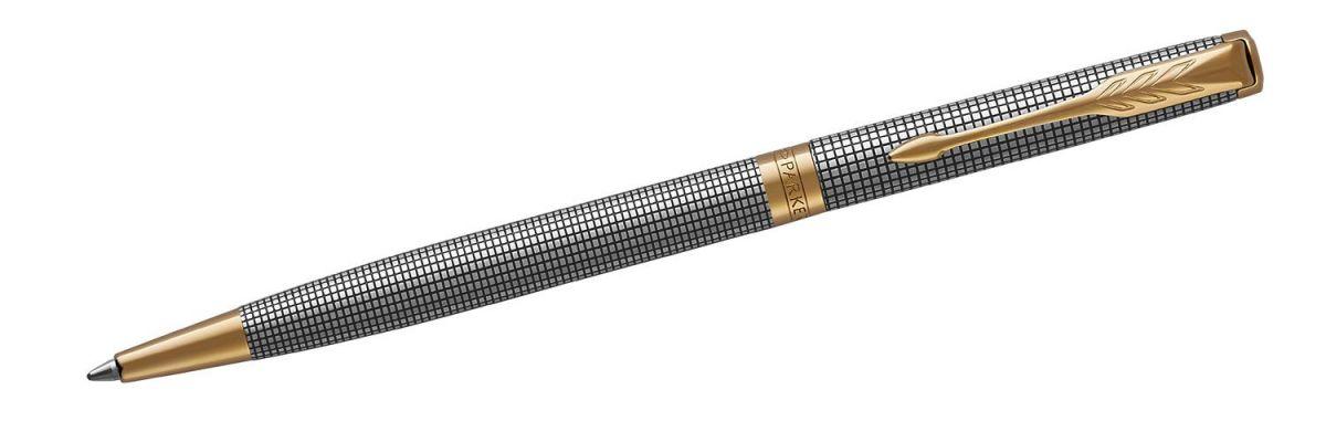 Długopis Parker Sonnet Premium Chiselled Silver GT Slim